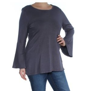 Alfani Tunic Sweater Pullover Stretch Bell Sleeve
